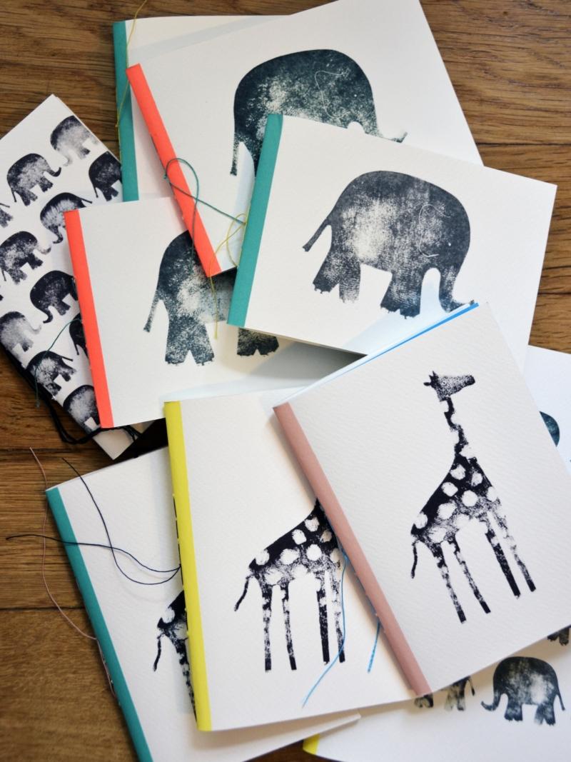 Carnets animaux – Elephant Girafe